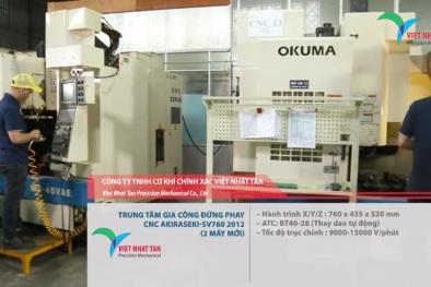 Chương trình 712: Cơ khí Chính xác Việt Nhật Tân áp dụng LEAN-ERP trong sản xuất