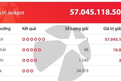 Xổ số Vietlott: Một người ở Ninh Binh trúng giải 'to' 57 tỷ đồng cận tết Dương lịch