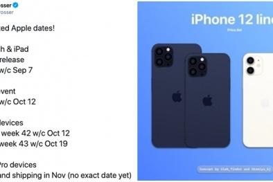 iPhone 12 lộ ngày ra mắt thị trường và giá bán khởi điểm gây bất ngờ