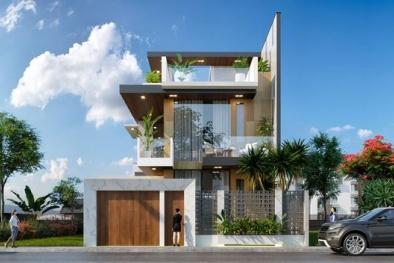 Mẫu nhà phố hiện đại 3 tầng thiết kế ấn tượng