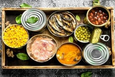 Cảnh báo những nguy hiểm tiềm ẩn cho sức khỏe từ thực phẩm đóng hộp