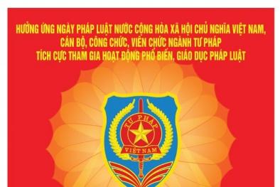 Khẩu hiệu tuyên truyền hưởng ứng Ngày Pháp luật Việt Nam năm 2020