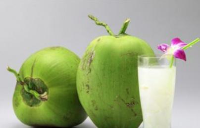 Gặp họa vì uống nước dừa không đúng cách