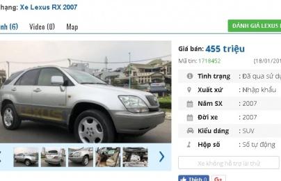 3 chiếc ô tô Lexus cũ số tự động này đang rao bán tầm giá 400 triệu tại Việt Nam