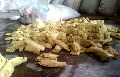 Kinh hãi măng tươi 'nhuộm vàng' bằng hóa chất nhuộm vải công nghệp