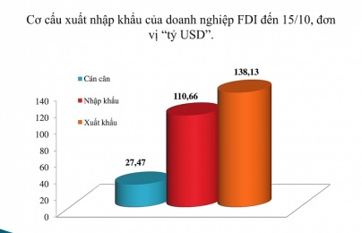 Doanh nghiệp FDI xuất siêu hơn 27 tỷ USD, Samsung mỗi năm thu 'khủng' 1,6 triệu tỉ đồng