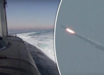 Video: Tàu ngầm Nga phóng tên lửa siêu mạnh trên biển