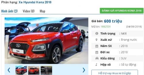 6 ngày nữa Hyundai Kona 2018 ra mắt người dùng Việt, giá khoảng 600 triệu đồng