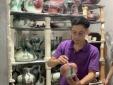 Nghệ nhân làng gốm cổ Bát Tràng phục chế thành công men Lang diêu hồng