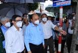 Chủ tịch nước Nguyễn Xuân Phúc thăm đồng bào TP Hồ Chí Minh