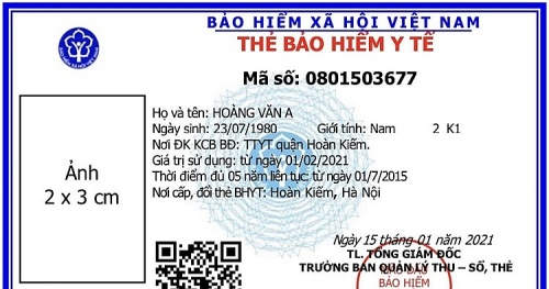 The Vietnam Social Insurance Agency has issued a new form of health insurance card