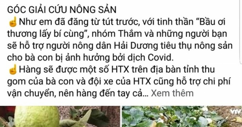The online community called for the rescue of Hai Duong agricultural products that had been congested by the Covid-19 epidemic
