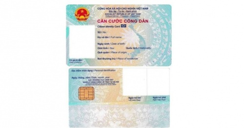 What are the requirements for standard chip-mounted citizen identification cards?