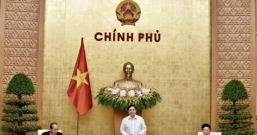 This morning, Prime Minister Pham Minh Chinh presided over the Government meeting