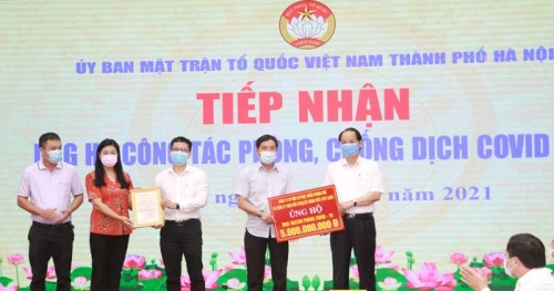 Hanoi received more than 26.7 billion VND to support the prevention and control of the Covid-19 epidemic